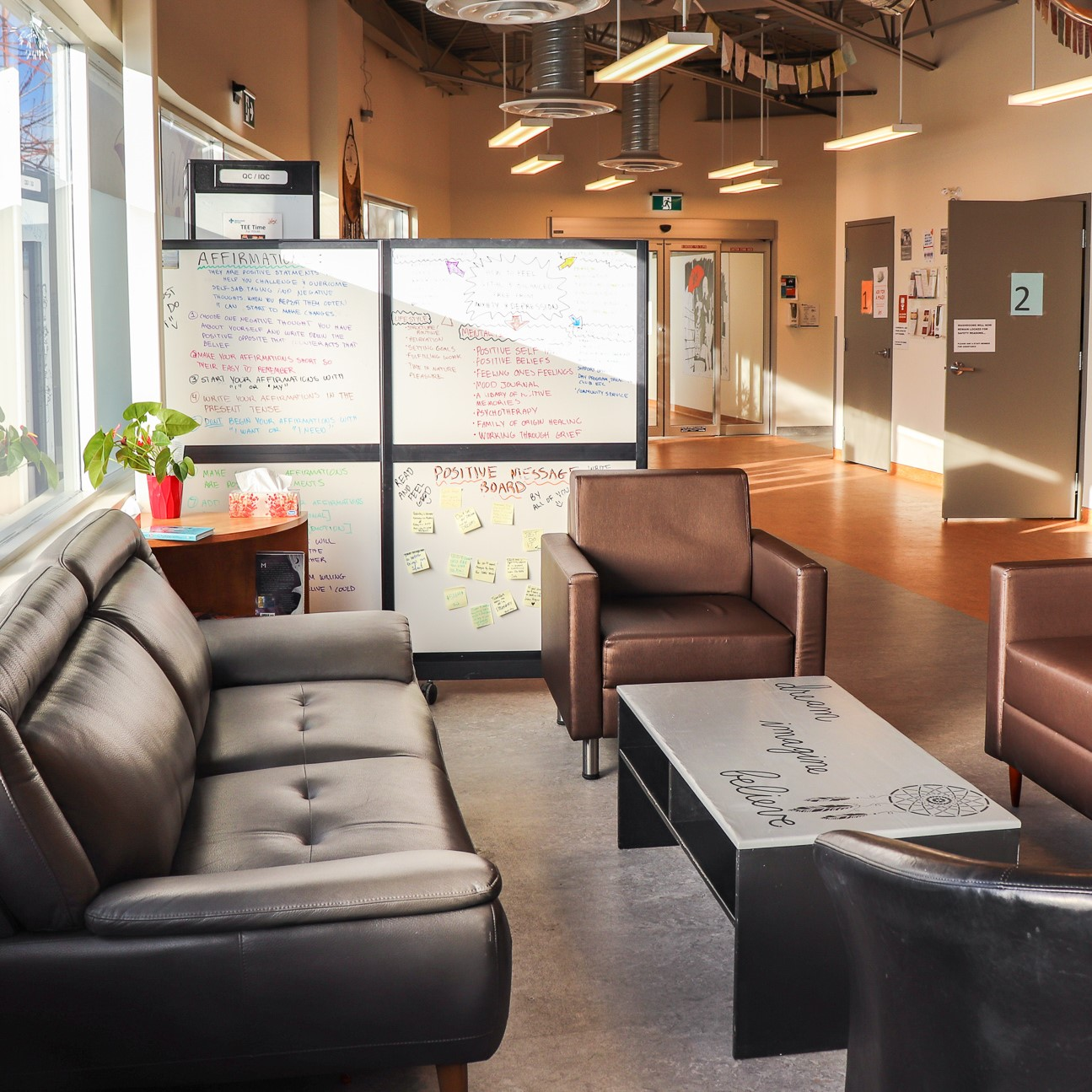 View of couches in The Alex Youth Health Centre